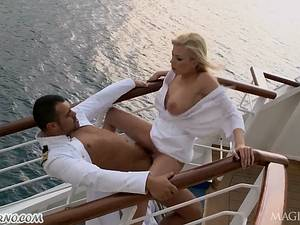 Anal porn with the captain and his assistant on a luxury yacht