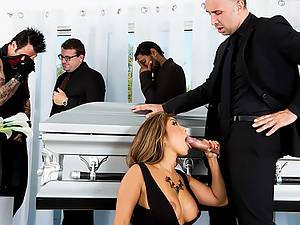 Best friend fucks the dead man's wife during funeral