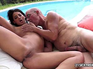 Coco milking the old man's cock
