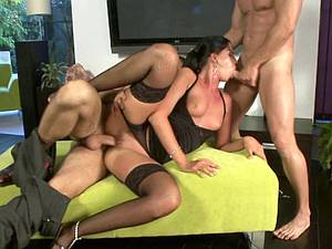 Getting cummed on from both sides