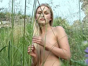 Naked in a beautiful meadow
