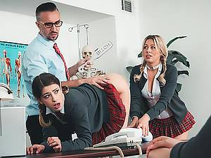 Strict teacher Keiran Lee punishes his negligent collegegirl